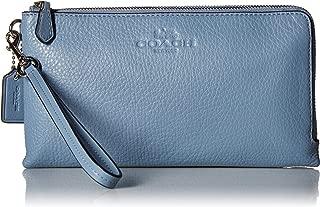 Women's Pebbled Leather Double Zip Wallet