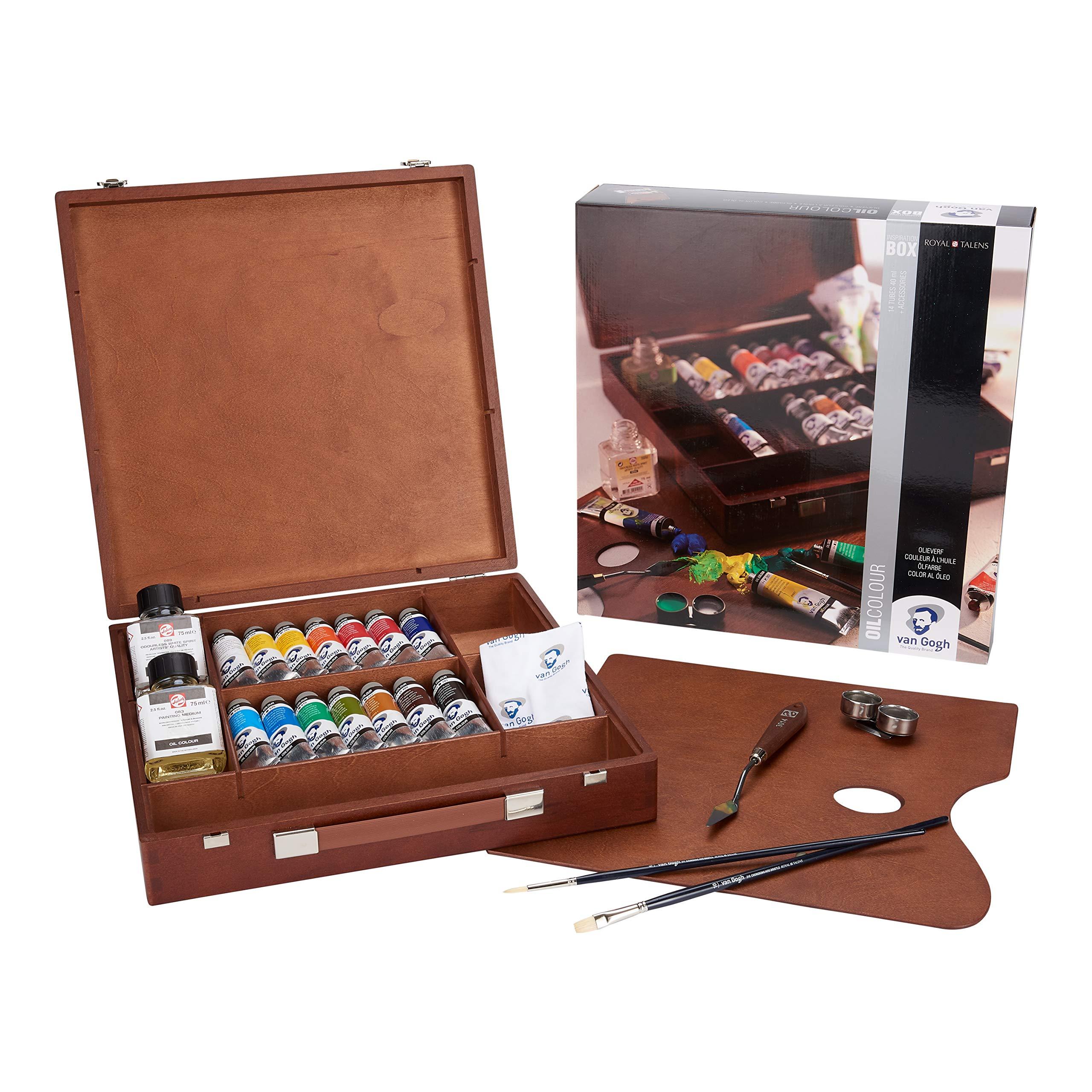 Royal Talens Van Gogh Caja De Madera Lujo Pintura Al óleo Set: Amazon.es: Juguetes y juegos
