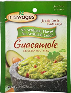 Mrs. Wages Guacamole Seasoning Mix, 0.8 Ounce (Pack of 12)