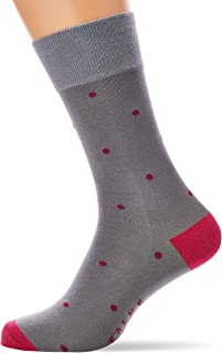 FALKE Socken Dot Baumwolle Herren schwarz grau viele weitere Farben verstärkte Herrensocken mit Muster atmungsaktiv gepunktet und dünn 1 Paar