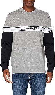 Calvin Klein Jeans Men's Logo Tape Crew Neck Sweater