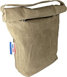 Waxed Canvas Lunch Bag (Lunch Box) | Removable Insulated Liner | Canvas Handle | Magnetic..