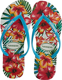 Havaianas Women's Slim Hibisco Flip Flop Sandal