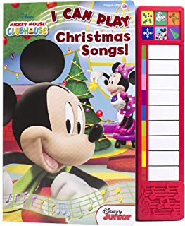Disney Mickey Mouse - I Can Play Christmas Songs Sound Book with Built-In Keyboard - PI Kids