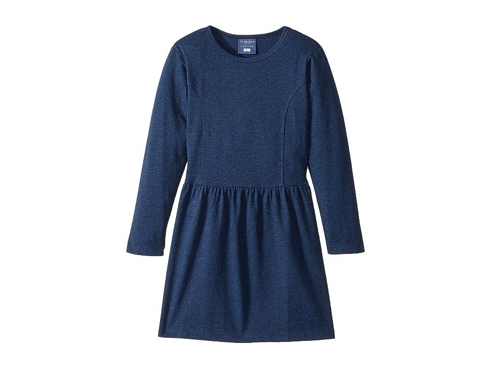 Toobydoo Skater Dress (Toddler/Little Kids/Big Kids) (Heather Navy) Girl