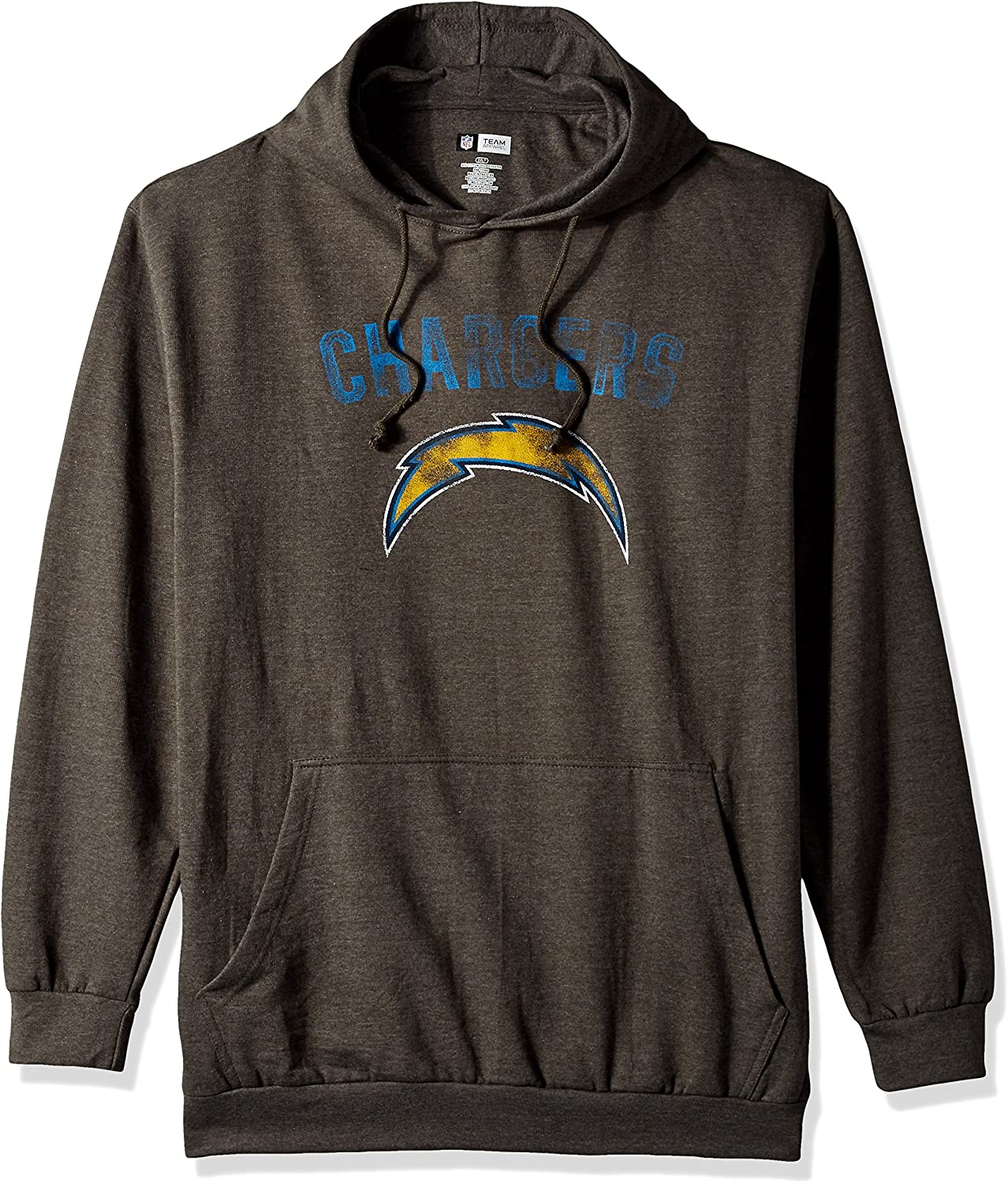 NFL Team Apparel NFL mens Chargers Pullover Hood W// Crew