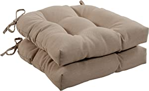Quality Outdoor Living 29-BG1SCH Tufted Chair Cushion-Set of 2, Beige