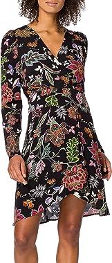 Morgan Robe Mi Imprimée Manches Longues Rolan Casual Dress Femme