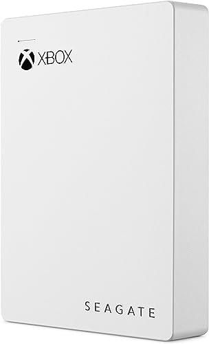 Seagate Game Drive pour Xbox 4 TB, Disque dur externe portable HDD, USB 3.0 – Blanc, conçu pour Xbox One, abonnement ...