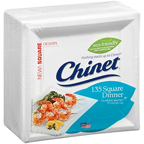 Chinet 60 super strong plates 24 cm Square