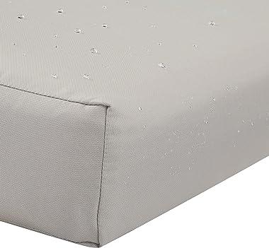Classic Accessories Ravenna Water-Resistant 21 x 20 x 4 Inch Patio Back Cushion, Mushroom