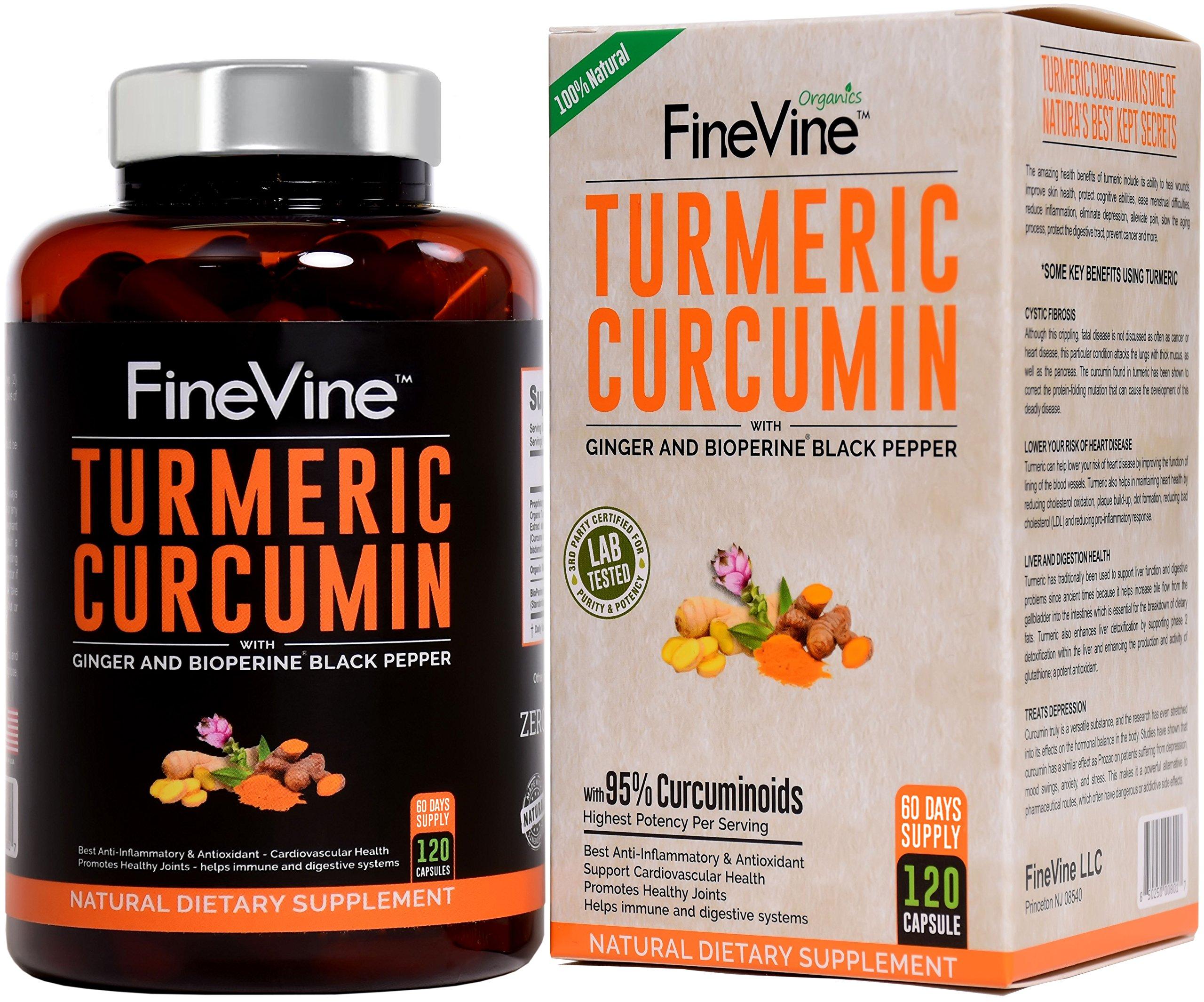 Turmeric Curcumin BioPerine Pepper Ginger