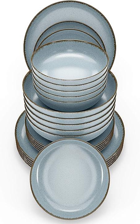 Servizio di piatti da tavola in porcellana, 24 pezzi pure living interior design B08SJ3QQ91