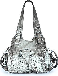 Angelkiss 2 Purses and Handbags Washed PU Leather Shoulder Bag/Massage Bag Fits Ipad