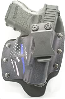Infused Kydex USA Spartan Blue Line IWB Hybrid Concealed Carry Holsters for More Than 180 Different Handguns. Left & Right Versions Available.