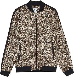 Zara Men Animal Print Bomber Jacket 0706/418