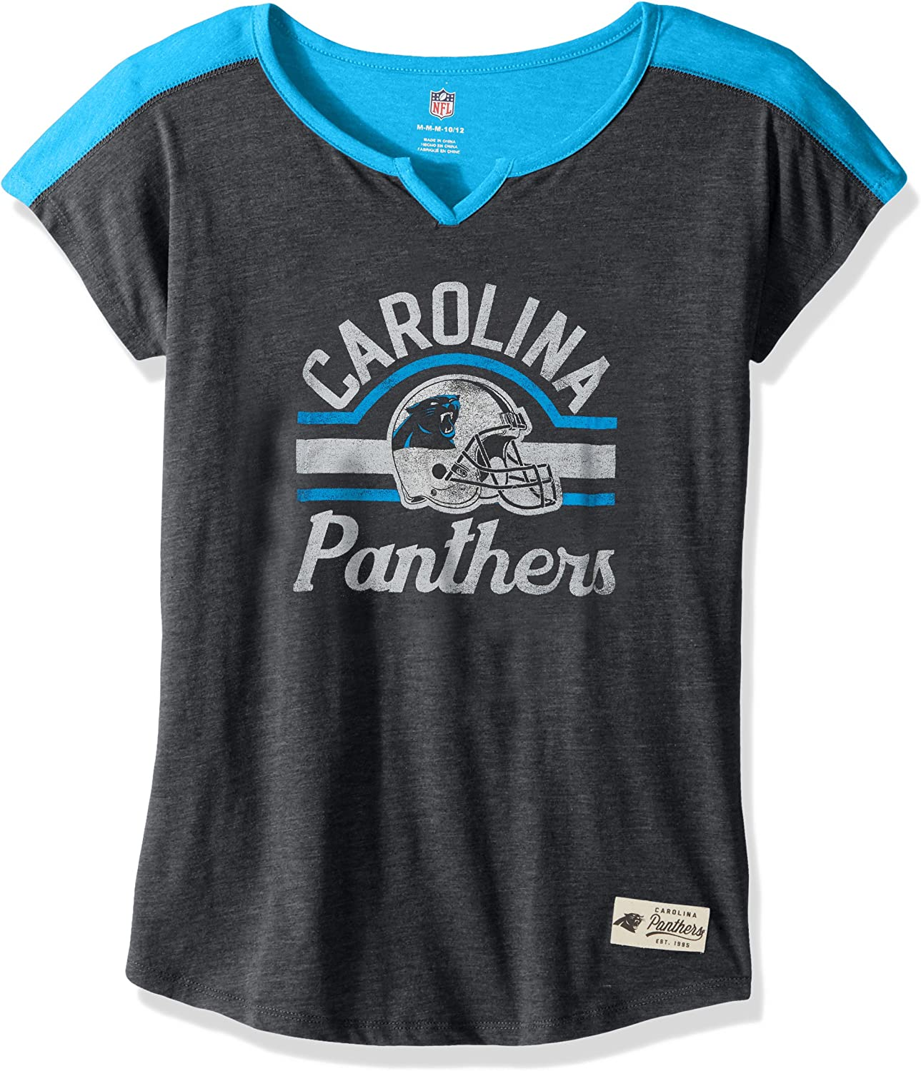NFL by Outerstuff Girls NFL Girls 7-16 Tribute  Football Tee K 1742M-P, Girls, NFL Girls 7-16 Tribute  Football Tee, K 1742M, Black, Youth Girls Small(7-8)