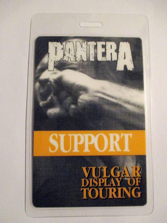 1992 Pantera Laminated Backstage Pass Support Band Vulgar Displa