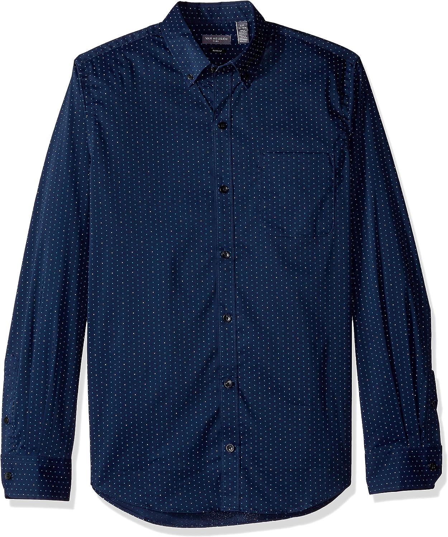 Van Heusen Men's Slim Fit Flex Long Sleeve Button Down Stretch Print Shirt