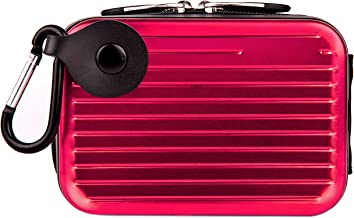 Metallic Pascal Hardshell Aluminum Cube Case (Pink) for Fujifilm FinePix XP, Z Point and Shoot Compact Digital Camera