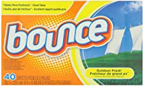 Bounce Outdoor Fresh Fabric Softener Sheets, 40 Count