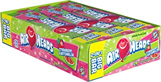 AirHeads Candy 2-in-1 Big Bar, Strawberry and Watermelon, Non Melting, 1.50 Ounce (Pack of 24)