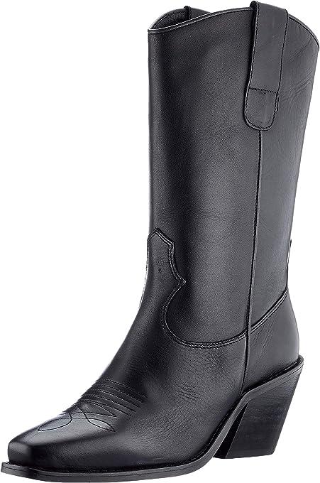 Vero Moda Vmasa Leather Boot, Stivaletto Donna