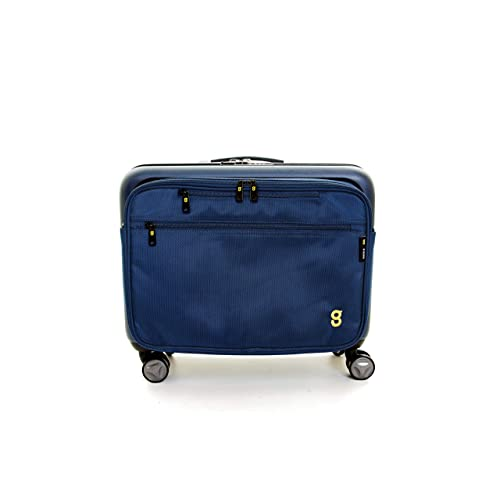 3618ec4075 GATE8 Hard Shell Cabin Luggage 4 Wheel Spinner Suitcase with Laptop Bag for  BA Easyjet -
