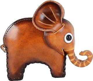 Animal Leather Purse Key Holder Cute Coin Purse Handmade Wallet Bag Elephant