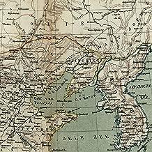 Asia China Korea Asia Manchuria c.1888 old Dutch Brackensiek color litho map
