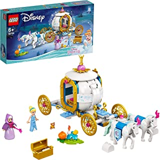 LEGO 43192 Disney Princess Cinderella's Royal Carriage Toy with 2 Mini Dolls and Horse Figures