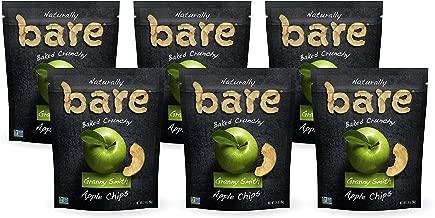 Bare Natural Apple Chips, Granny Smith, Gluten Free + Baked, Multi Serve Bag - 3.4 Oz (Pack of 6)
