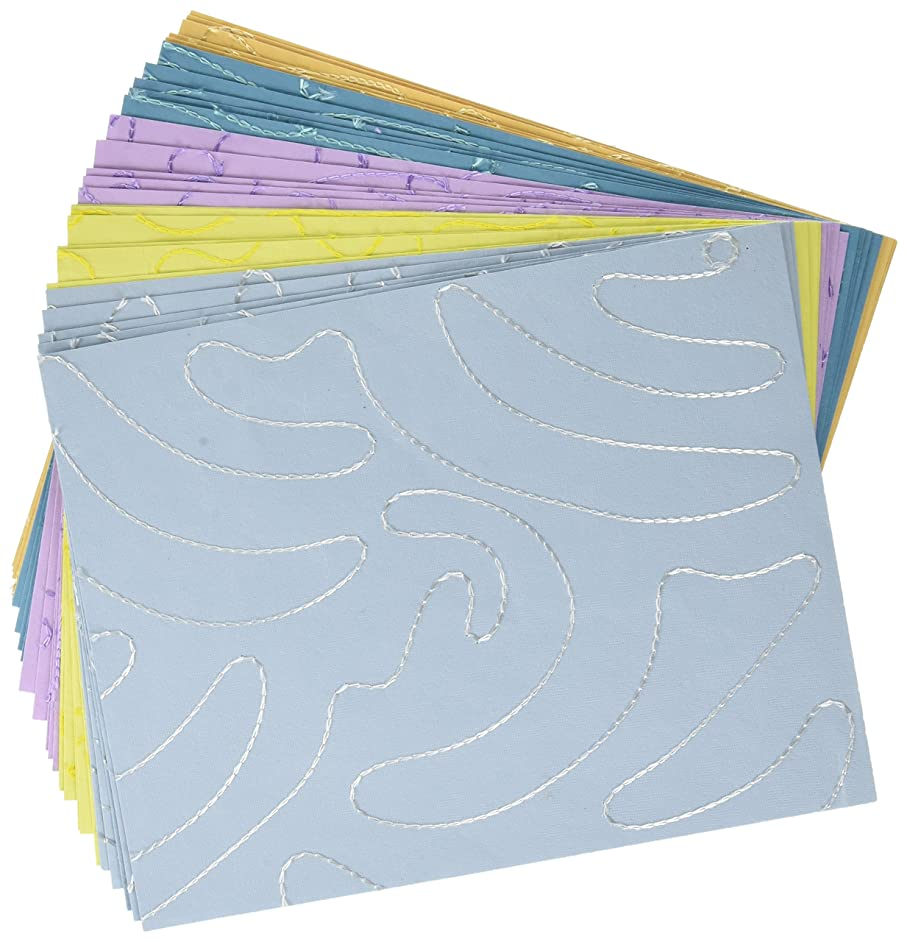 Shizen Design SA15 Decorative Printed and Embroidered Papers, 8-1/2
