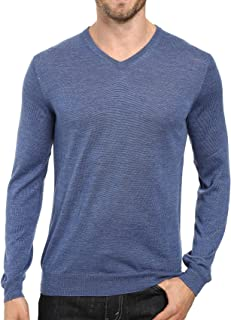 Men's Extra Fine Merino Wool V-Neck Sweater