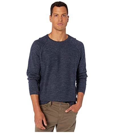 J.Crew Rugged Cotton Sweater (Heather Dark Indigo) Men