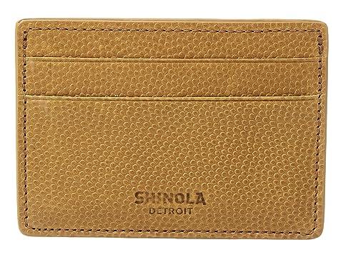 de identificación Shinola Camel Detroit tarjetas Latigo Estuche para E8wtqn4