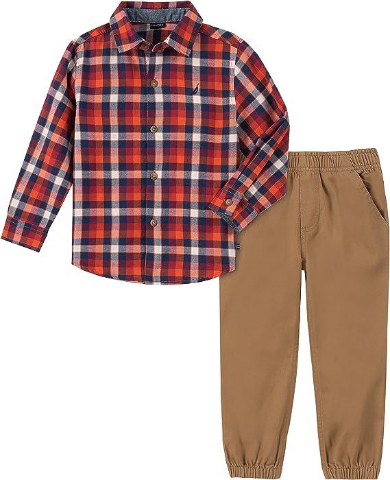 Nautica Baby Boys Juego De 2 Pantalones Para Camisa Escoces Rojo 24 Meses Amazon Com Mx Ropa Zapatos Y Accesorios