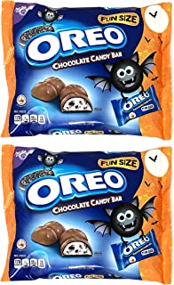 Milka Chocolate Halloween Treat Size Oreo Candy Bars, 10.25 Oz (Pack of 2) Fun Size Individually Wrapped Halloween Candy