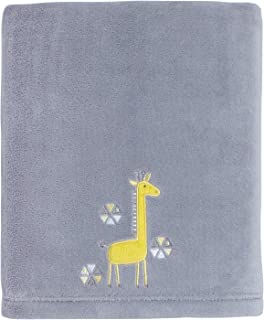 Little Love by NoJo Giraffe Time Appliqued Coral Blanket, Yellow