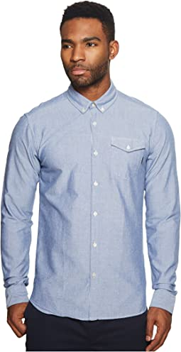Scotch & Soda - Ams Blauw Clean Oxford Shirt with Chest Pocket