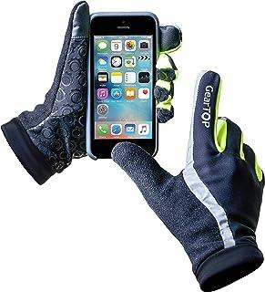 GearTOP Running Gloves for Men and Women, Lightweight Outdoor Sports Touchscreen Gloves, Multi-Purpose Reflective Gloves f...