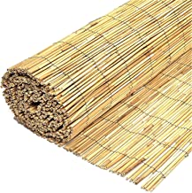 Wilsons Direct Natural Peeled Reed Fence Wooden Garden Scree
