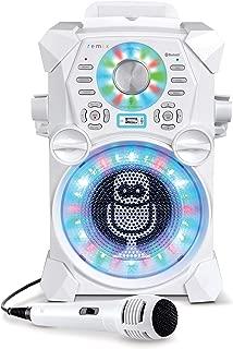 Singing Machine SDL485W Remix Hi-Def Digital Karaoke System with Resting Tablet Cradle & Microphones, White