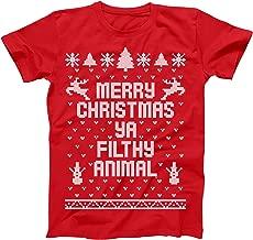 Merry Christmas Ya Filthy Animal Ugly Christmas Sweater Contest Party Xmas Mens Shirt