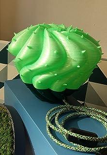 DESERT LIGHT modello CEREUS SPIRALIS -Flux- nei colori verde fluo e verde scuro.