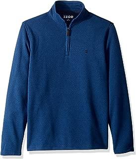 IZOD Men's Premium Essentials Spectator Quarter Zip Fleece Pullover
