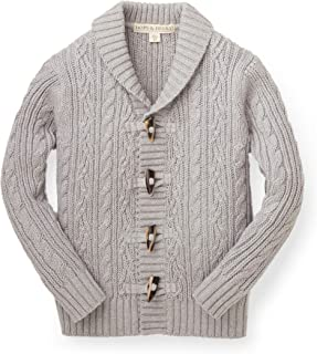 Hope & Henry Boys' Shawl Collar Sweater Cardigan with Toggles