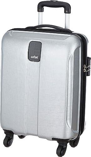 Safari Thorium Stubble 55 Cms Polycarbonate Silver Cabin 4 wheels Hard Suitcase