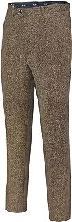 Mens Vintage Tweed Tan Brown 3 Piece Suit Formal Slim Fit, Items Sold Separately