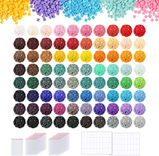 PP OPOUNT 80 Colors Diamond Painting Replacement Including 95 Pieces Self-Seal Bags and 3 Sheets 120 Tags Label Paper, Squ...